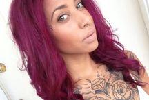 Pink/magenta hair
