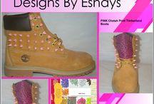 Pink Spiked Timberlands / #timberland #timberlands #fashion #art #digitalart #fashionart #custom #spiketimberlands #spike #gold #goldspikes #studded #spikeboots #boots #studdedboots #shoes #pink #pinkspikes #americanflag #customize #custom #kicks #urban #style #floral #pink #tropical #prints #designs #tribal #pink #Blue #wheat #painted #eshaysdesigns