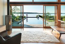 Eastern Point by ZEN Associates / This contemporary pool, spa and pool house rest serenely upon Gloucester's rocky shores, achieving the client's dream of a retreat set apart from the main house, yet joined with nature.   This project has been featured in several publications and was the cover story in Northshore magazine's Home Life issue, March 2013.