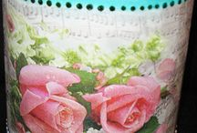 I LOVE DECOUPAGE :-) / I love vintage decoupage... old photos... romantic roses and lavenders. These are my favorite works.