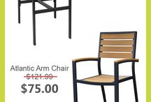 On Sale Furniture! / A board containing restaurant furniture that is on sale on our website tableschairsbarstools.com