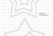 vanocni hvezda papir predloha