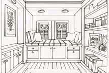 One point perspective room
