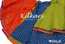 Kilkari for Kids  / A cheerful and vibrant collection of ethnic wear for children aged 4-9 years. #Kilol #Buti #BlockPrint #Kids