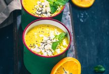 Warm and cold soups