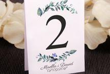 Ślubne numerki na stół