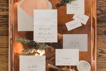Blush + Copper Wedding / Shiney copper meets soft blush pink in this wedding color story. Perfect for an industrial chic wedding theme. / by Beau-coup