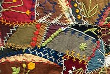CrazyQuilt-Paper Piece/EmbroiderySamples / by Deb Rosproy