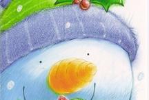Art: Snowman / lumiukko kuvis