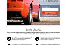 Auto insurance landing page design