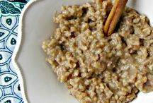 oatmeal / We just love our oatmeal.  Whether it's a bowl of oatmeal, baked oatmeal or oatmeal in our baked goods, it's all bound to be delicious!  Cookies, breakfast, brunch, pie, dessert.