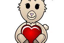 Alpaca Facebook Stickers / Express yourself in ALPACA with these Facebook Stickers from PurelyAlpaca!