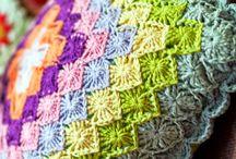almofadas crochet