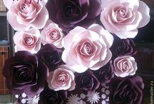 ściana kwiaty
