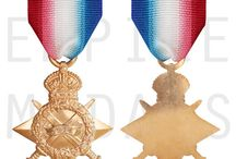 WW1 Medals / British and Commonwealth Medals awarded for service during the first world war.