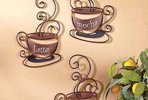 kávés dekor