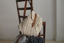 Örgü - Deri Çantalar (Knit - Leather Bags)