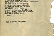 Ṗ☮ҽɱʂ: Tyler Knott Gregson / Poems Tyler Knott Gregson