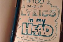 100 Days of Lyrics in My Head / hand lettering song lyrics for #The100DayProject