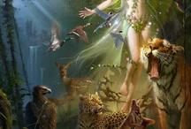 Sztuka fantasy, elfy, wróżki