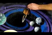 galaxy art spray painting