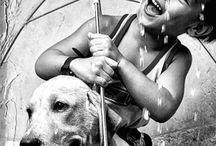 Fotos de crianças e seus animais de estimação