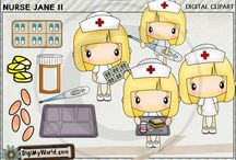 Career and Occupations clip art and digital stamps