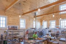 Marini Farm / The new bakery we designed at Marini Farm in Ipswich is a bright space with interior windows to create a flowing connectivity between farmstand, cafe, and baking space.