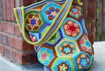 bolsa em cores lindas flores africanas