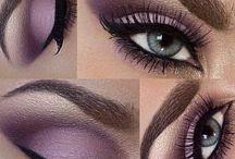 purple bride makeup