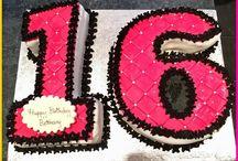 16th shaped birthday cake