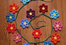Haken: bloemen en planten