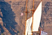 Greek and wooden boats