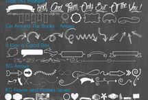 Tipografías, chalkboard, dingbat