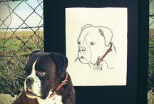 .... COLECCIÓN MASCOTAS / Cojines, Láminas o Eco-Monederos PERSONALIZADOS con dibujo BORDADO sobre algodón orgánico de vuestras mascotas, en nuestra tienda www.hiloxhilo.com