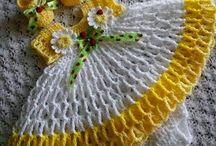 Vestidos tejidos de gancho