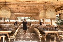 Scorpios Mykonos / A perfect place to gather under a shady canopy for long, leisurely meals that can stretch on into the night surrounded by an stunning sunset and live music.