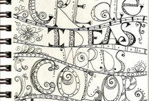 Kunstzinnige dagboeken/Art journals / Dagboek schrijven en aanvullen met  alles wat je nodig hebt, veren, tijdschrift plaatjes, foto's, theezakjes, noem maar op