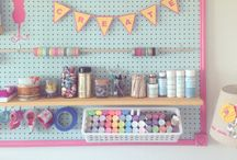 Garage art space / by Becky Cahal Stephens