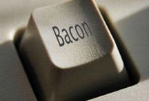 Bacon: A Love Story ♥ / This is for my Canadian friend, Shalane, who LOVES bacon,  and can be found singing & playing the keyboards at Celebration Life Church in Surrey, BC  / by Nancy ❥