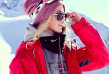 Skiing outfits