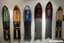 vintage snowboards