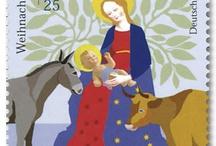 Saksalaisia joulupostimerkkejä