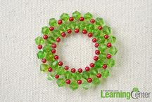 Buttons and beads and bows... / Button and bead ornaments and crafts