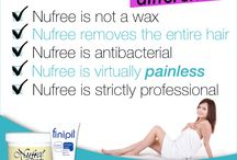 the nufree hair removal difference  / Nufree!