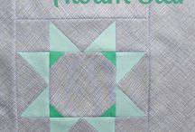 Star Block of the Month / A free quilting project offered from The Village Haberdashery in 2015! Find all the tutorials on The Daily Stitch: www.thevillagehaberdashery.co.uk/blog