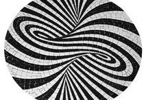 mozaiek zwart wit