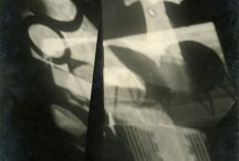 Funke & Moholy-Nagy - b&w light abstracts and photograms / Black & white photographic images showing the power of the medium to capture light and form with a strong graphic style