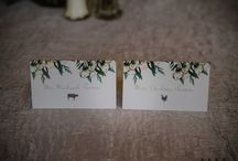 Stationery by I Do Events / Our in house graphic designer will create the perfect paper products for your wedding.  From menu cards to escort boards - the designs are endless.