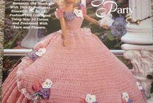 Garden party Barbie crochet